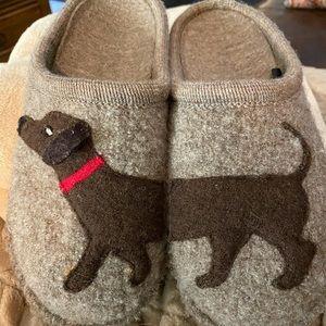 HAFLINGER boiled wool dog slippers